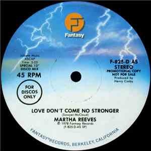 Martha Reeves - Love Don't Come No Stronger / You're Like Sunshine download flac