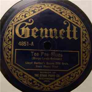 Lloyd Barber's Green Mill Orchestra - Tee Pee Blues / Wigwam Blues download flac