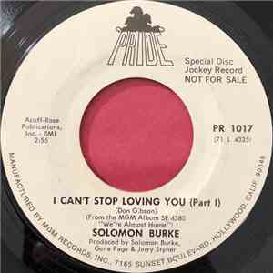 Solomon Burke - I Can't Stop Loving You download flac