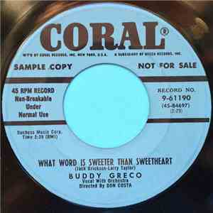 Buddy Greco - What Word Is Sweeter Than Sweetheart download flac